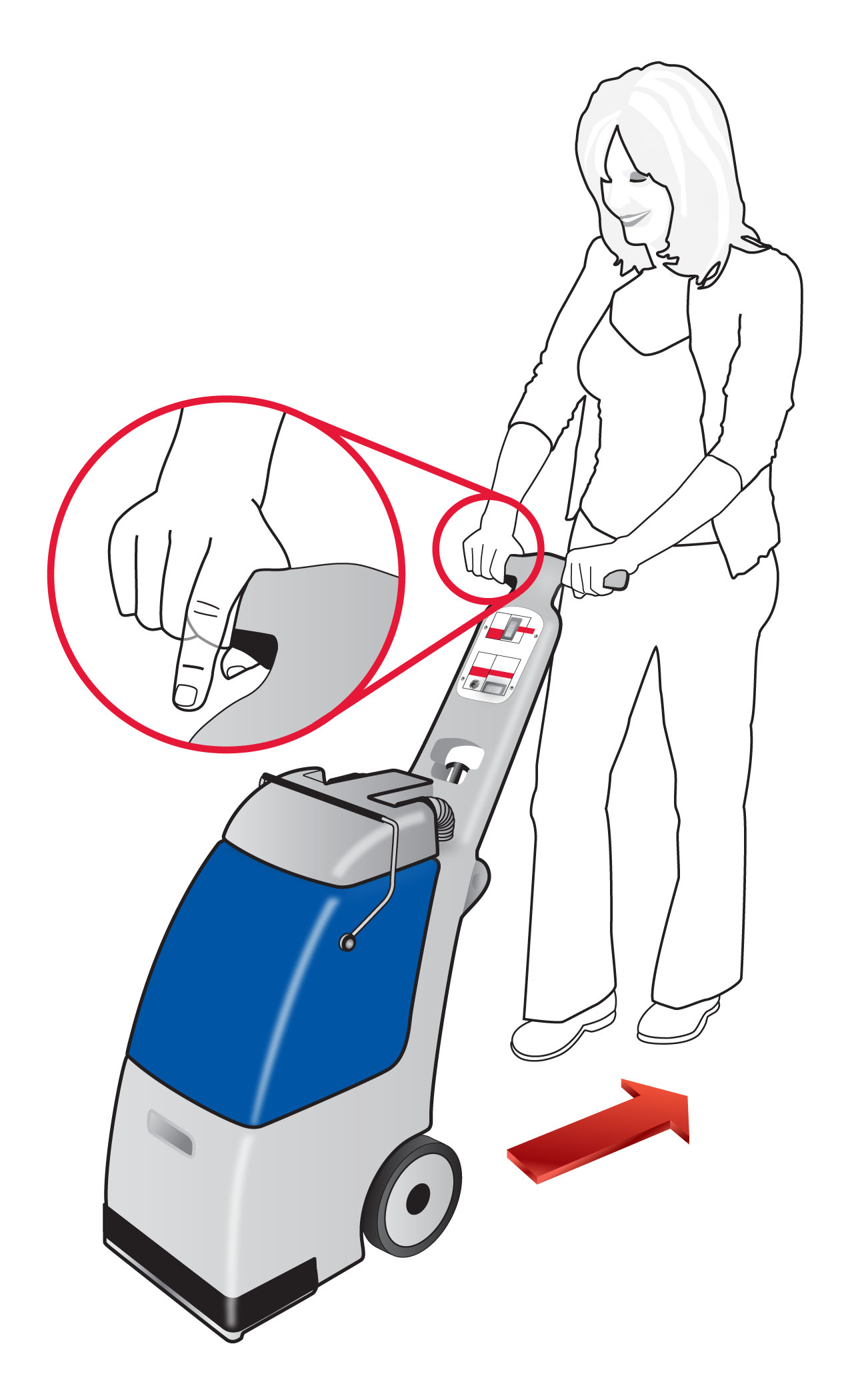 Rent Carpet Express How To Use Extractor Diagram And Parts List For Bissell Wetcarpetcleaner Overlap Strokes By 2 Inches Releasing The Trigger 6 Before Ending Each Stroke Keep Suction Nozzle In Firm Contact With